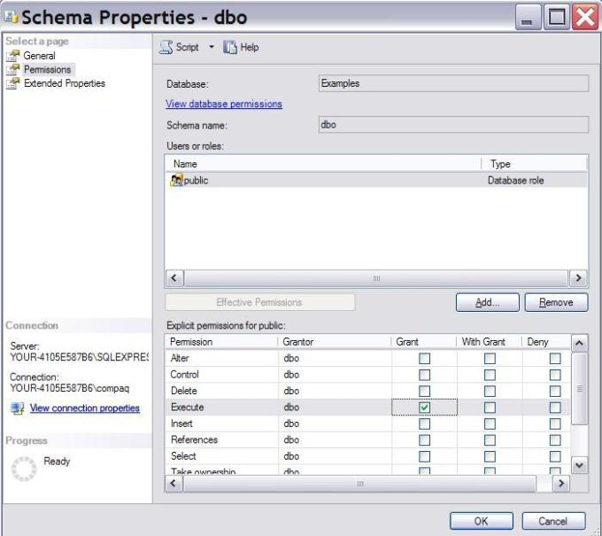 select and update permission on all tables and views in the schema